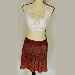 Becca boho Swim Skirt Coverup, XS/S